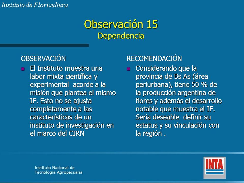 Observación 15 Dependencia