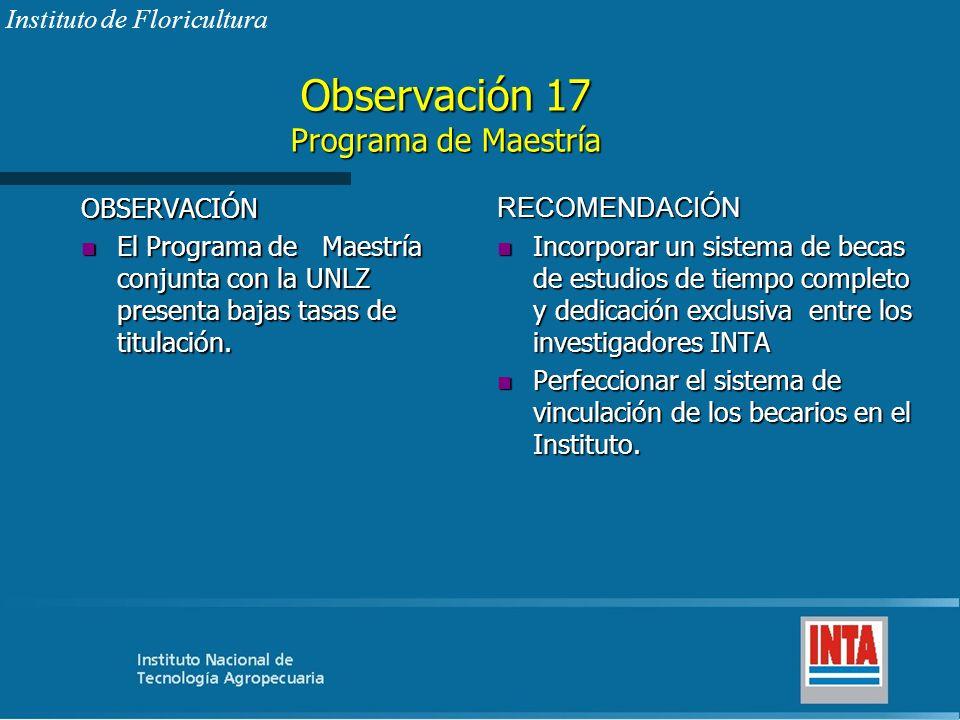 Observación 17 Programa de Maestría