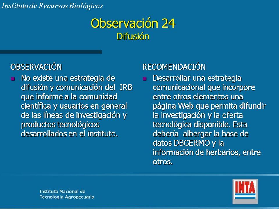 Observación 24 Difusión Instituto de Recursos Biológicos OBSERVACIÓN