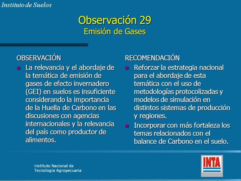 Observación 29 Emisión de Gases