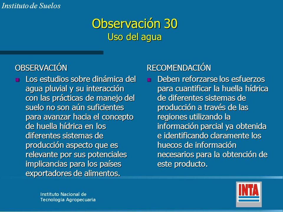 Observación 30 Uso del agua