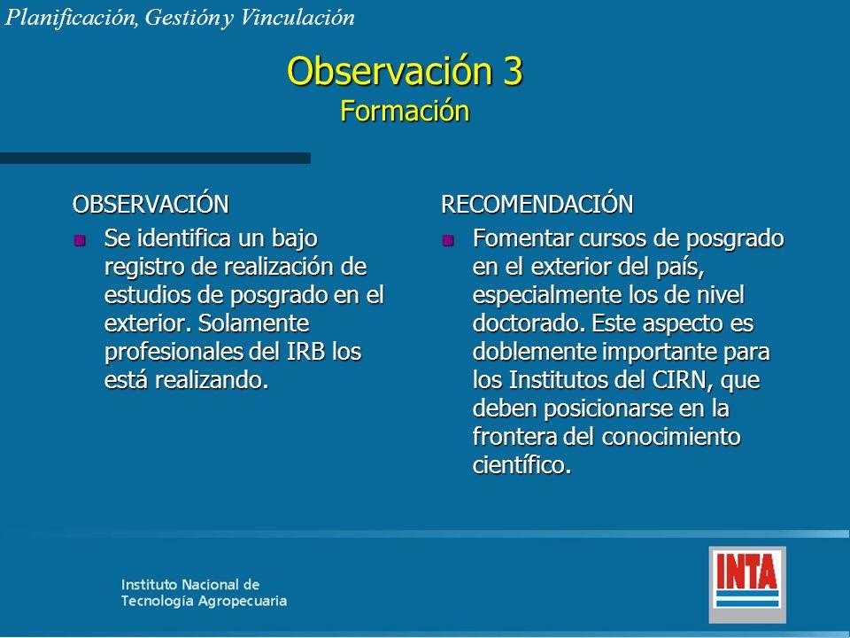 Observación 3 Formación