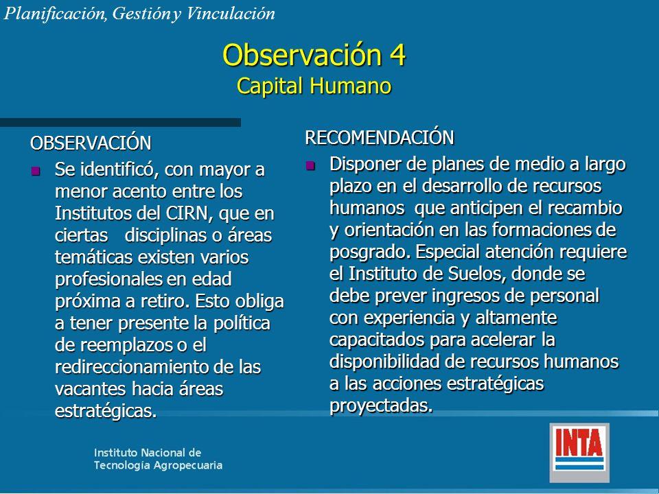 Observación 4 Capital Humano