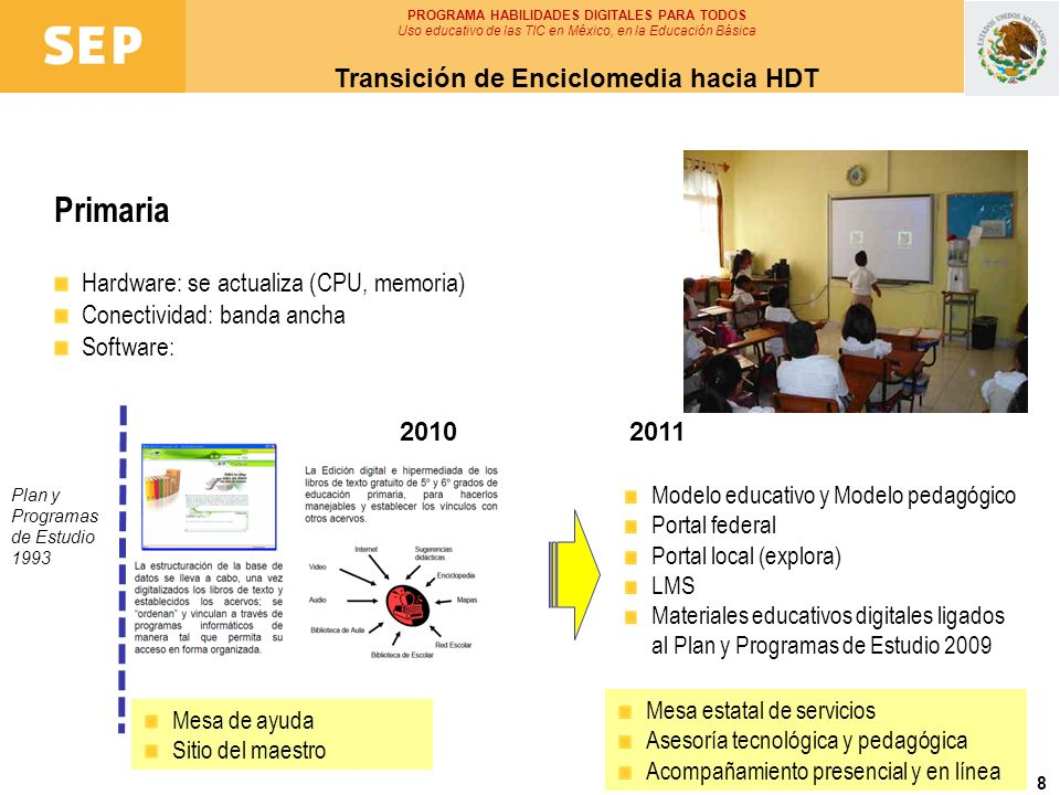 Primaria Transición de Enciclomedia hacia HDT