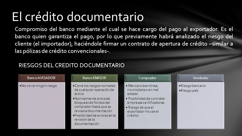El crédito documentario