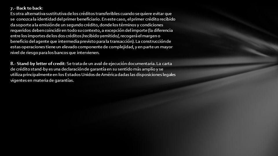 7.- Back to back: