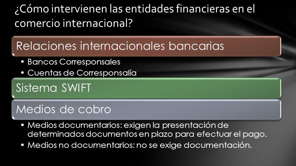 ¿Cómo intervienen las entidades financieras en el comercio internacional