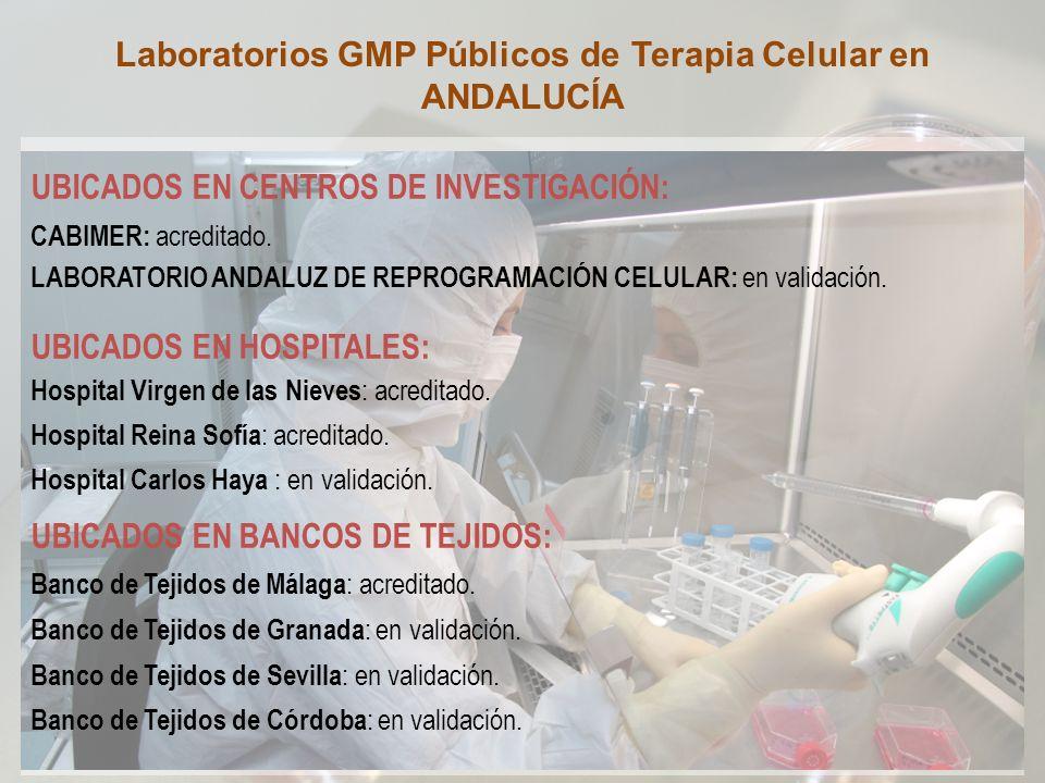 Laboratorios GMP Públicos de Terapia Celular en ANDALUCÍA