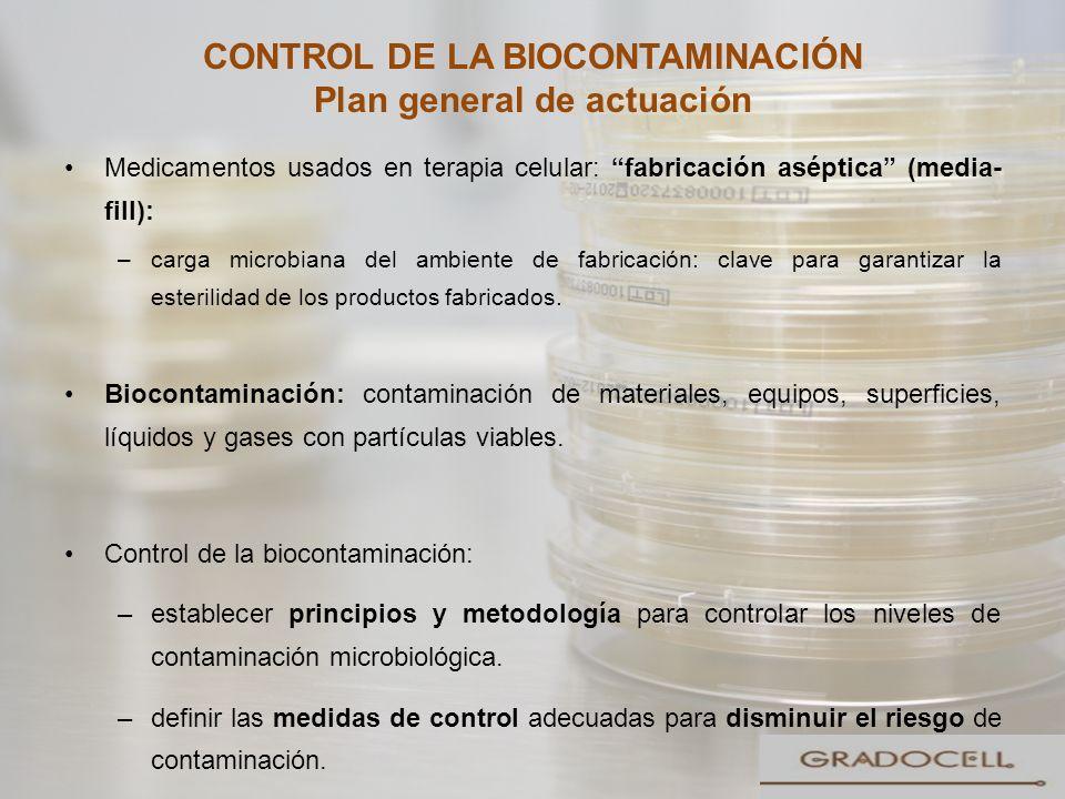 CONTROL DE LA BIOCONTAMINACIÓN Plan general de actuación