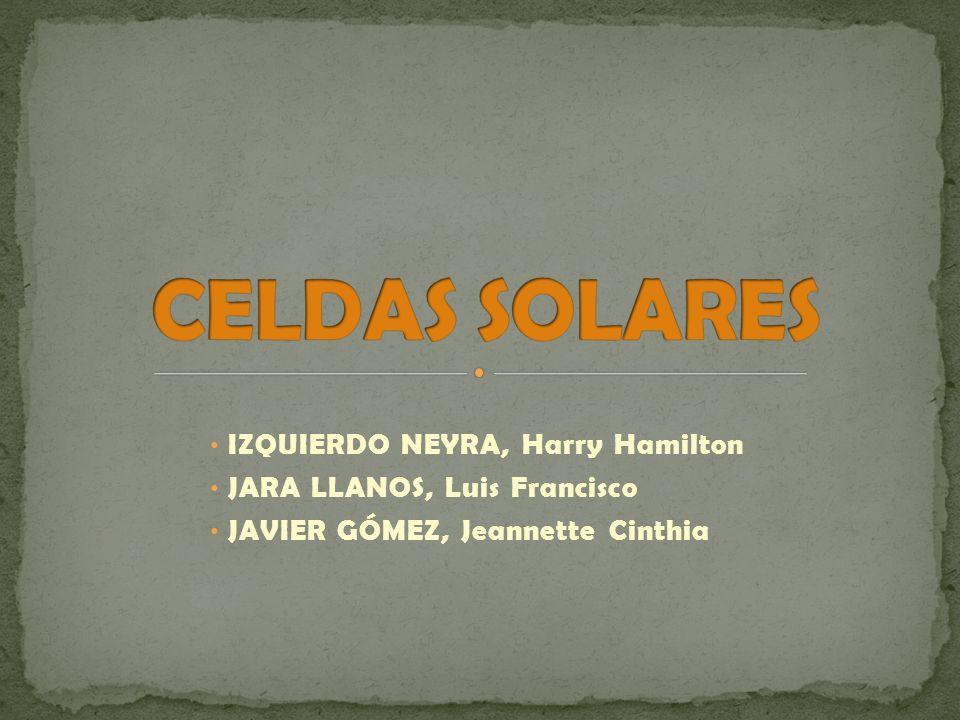 CELDAS SOLARES Izquierdo Neyra, Harry Hamilton