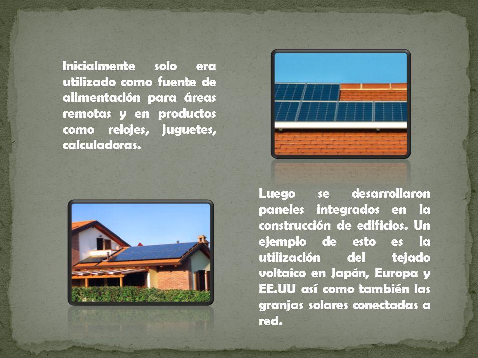 Inicialmente solo era utilizado como fuente de alimentación para áreas remotas y en productos como relojes, juguetes, calculadoras.