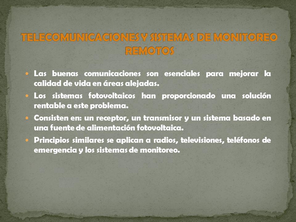 Telecomunicaciones y sistemas de monitoreo remotos