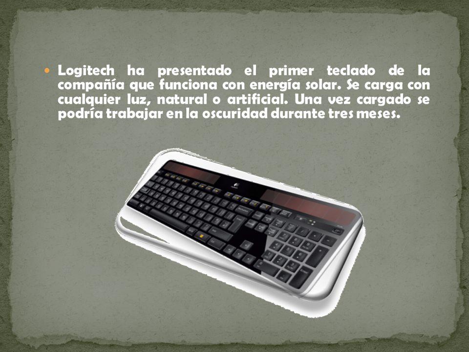 Logitech ha presentado el primer teclado de la compañía que funciona con energía solar.