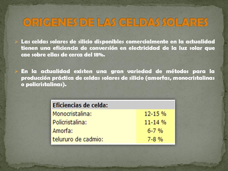 ORIGENES DE LAS CELDAS SOLARES