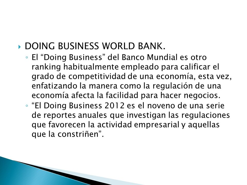 DOING BUSINESS WORLD BANK.