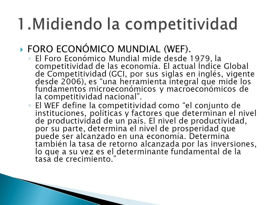1.Midiendo la competitividad