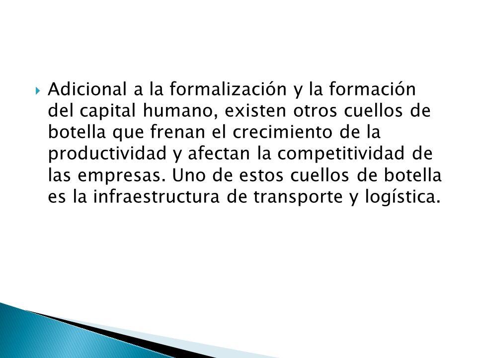 Adicional a la formalización y la formación del capital humano, existen otros cuellos de botella que frenan el crecimiento de la productividad y afectan la competitividad de las empresas.