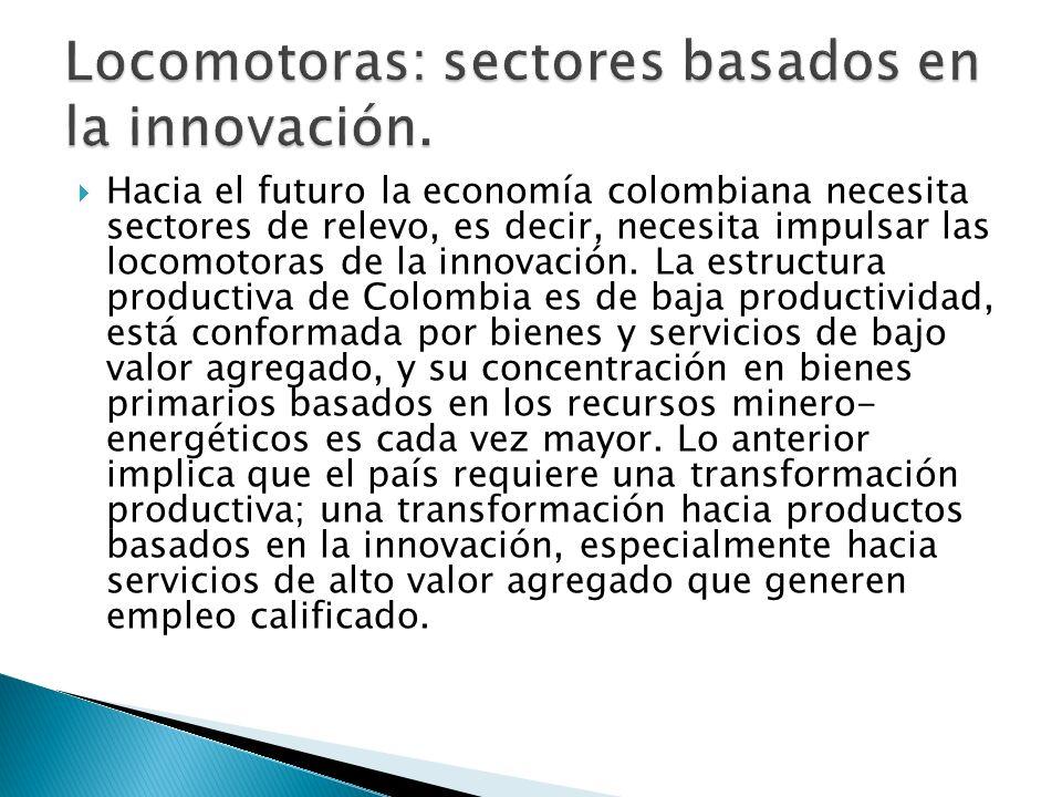 Locomotoras: sectores basados en la innovación.