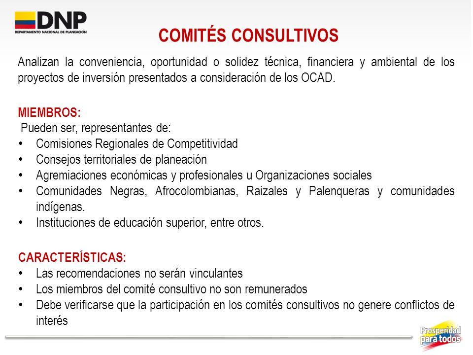 COMITÉS CONSULTIVOS