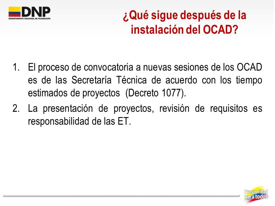 ¿Qué sigue después de la instalación del OCAD