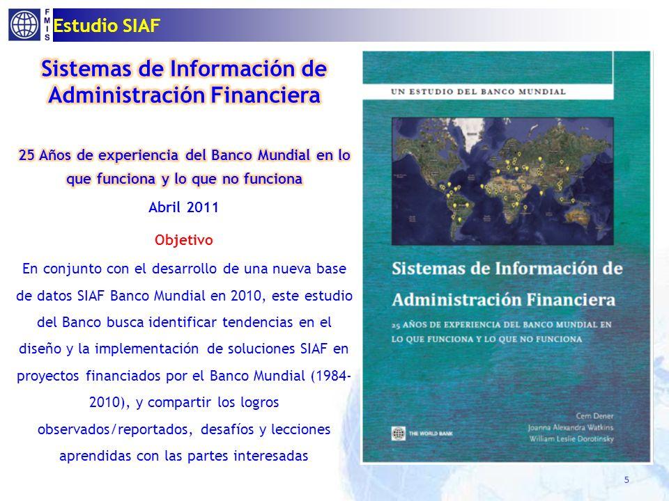 Financiados por BM/ Proyectos SIAF