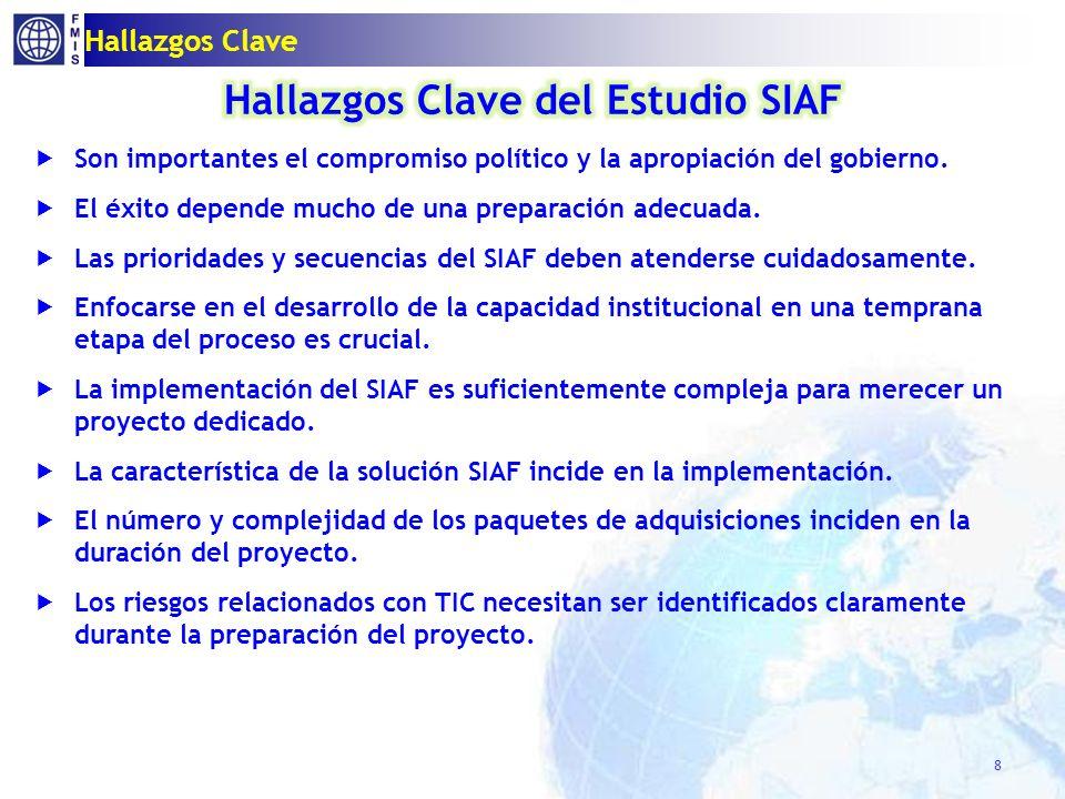 Pre-requisitos para soluciones SIAF TIC