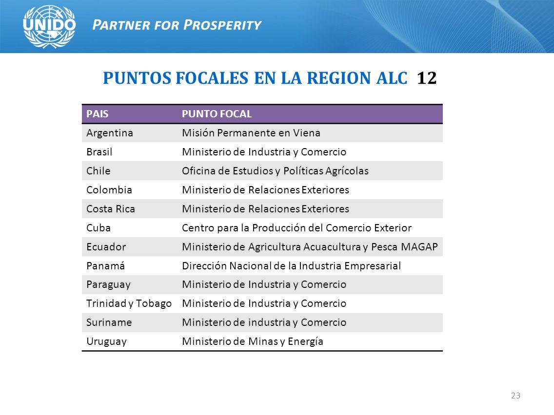 PUNTOS FOCALES EN LA REGION ALC 12