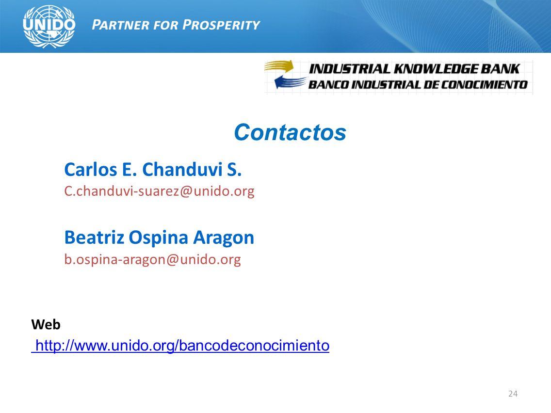 Contactos Carlos E. Chanduvi S. Beatriz Ospina Aragon