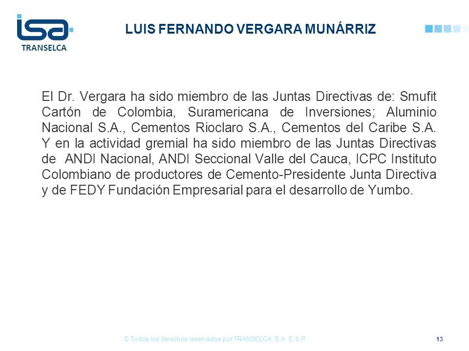 LUIS FERNANDO VERGARA MUNÁRRIZ