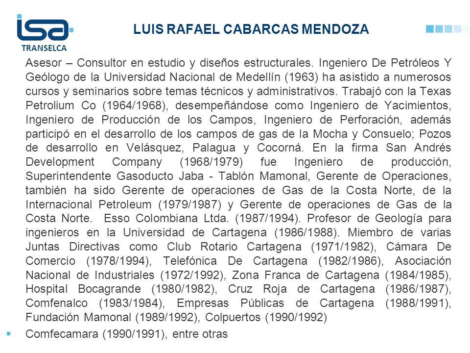 LUIS RAFAEL CABARCAS MENDOZA
