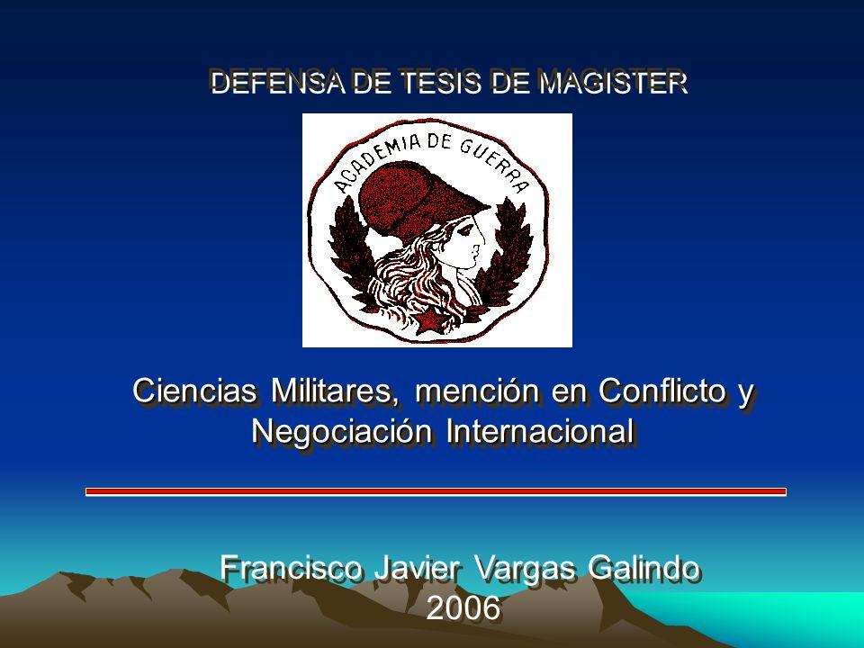 Ciencias Militares, mención en Conflicto y Negociación Internacional
