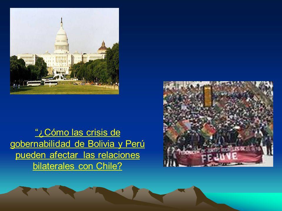 ¿Cómo las crisis de gobernabilidad de Bolivia y Perú pueden afectar las relaciones bilaterales con Chile