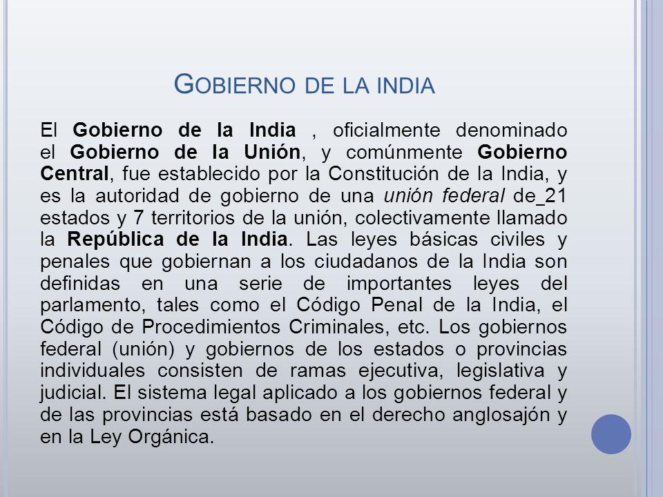 Gobierno de la india