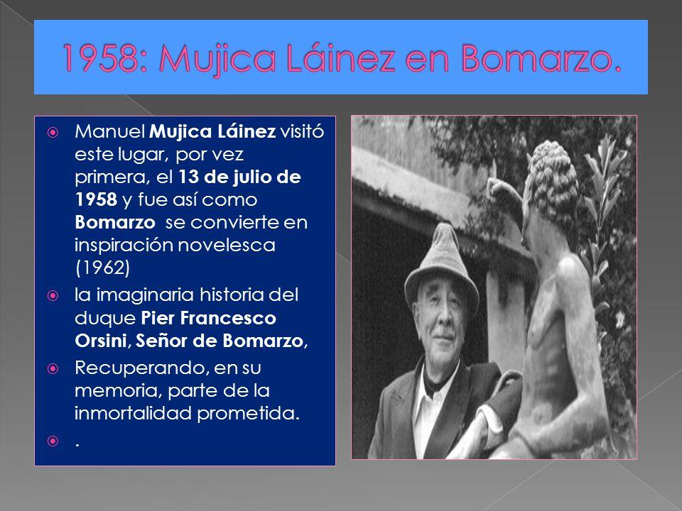 1958: Mujica Láinez en Bomarzo.