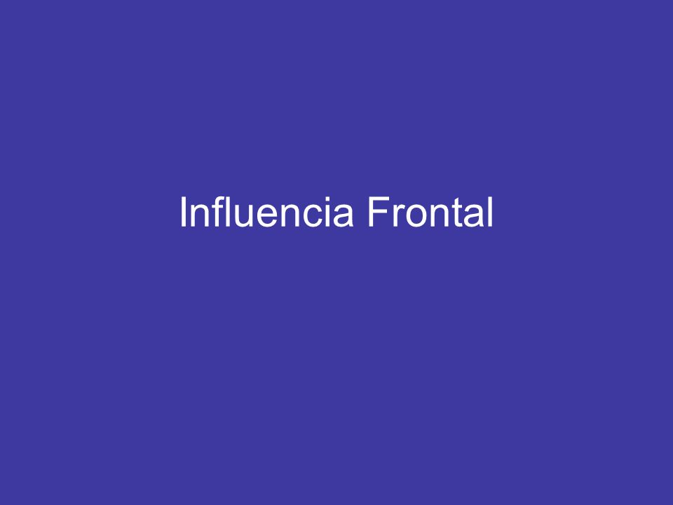Influencia Frontal Frontal Events Pre-Warm Frontal