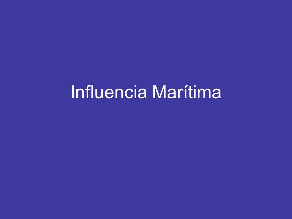 Influencia Marítima WAA over Cold Water