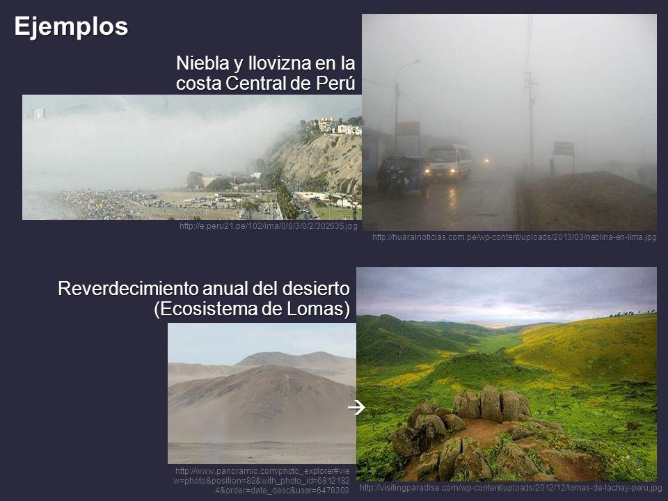 Ejemplos  Niebla y llovizna en la costa Central de Perú
