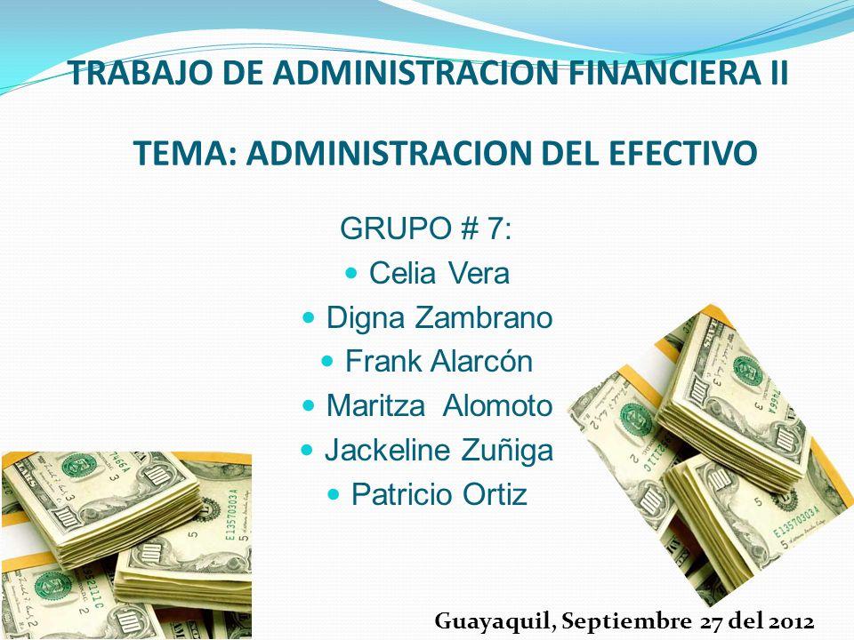 TRABAJO DE ADMINISTRACION FINANCIERA II