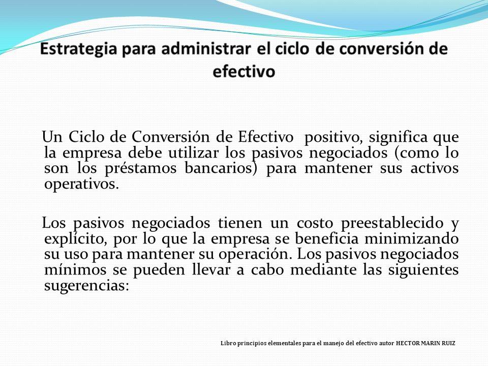 Estrategia para administrar el ciclo de conversión de efectivo