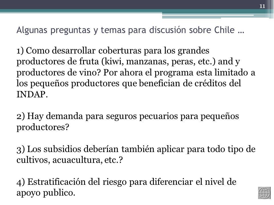 Algunas preguntas y temas para discusión sobre Chile …