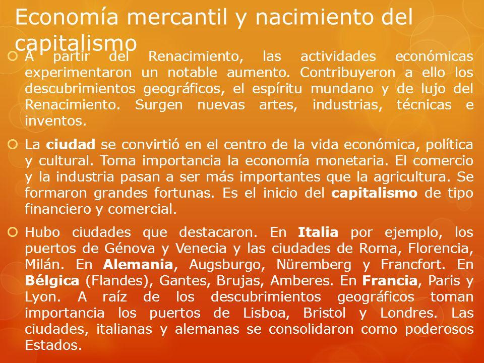 Economía mercantil y nacimiento del capitalismo
