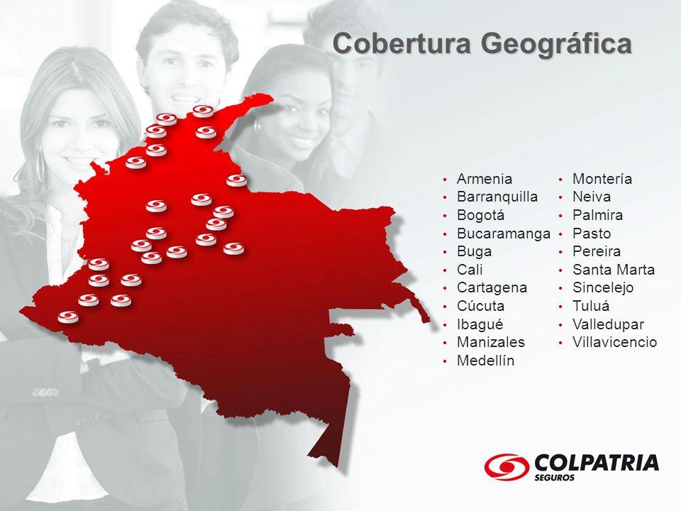 Cobertura Geográfica Armenia Montería Barranquilla Neiva Bogotá