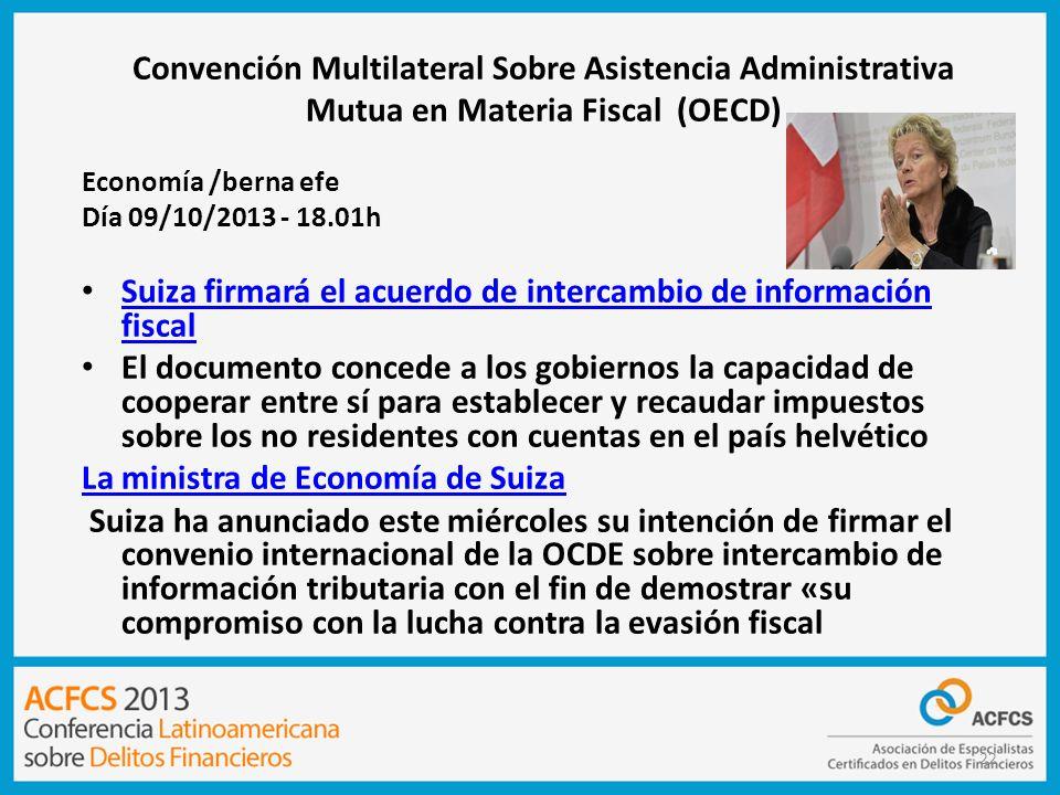Convención Multilateral Sobre Asistencia Administrativa Mutua en Materia Fiscal (OECD)