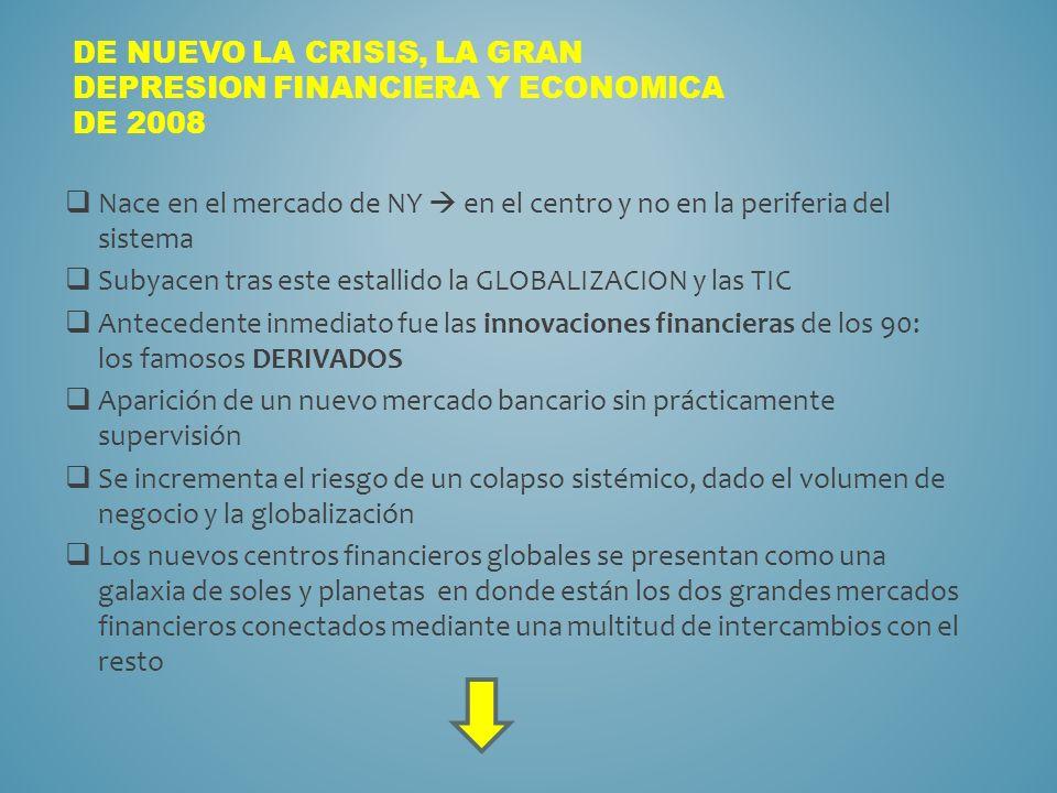 DE NUEVO LA CRISIS, LA GRAN DEPRESION FINANCIERA Y ECONOMICA DE 2008