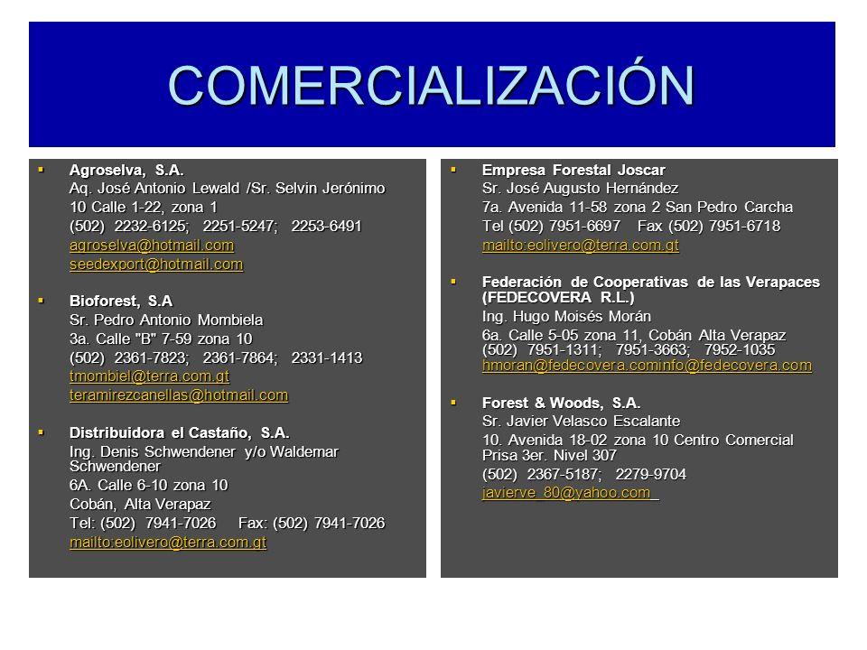 COMERCIALIZACIÓN Agroselva, S.A.