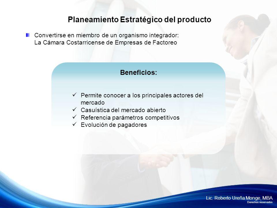 Planeamiento Estratégico del producto
