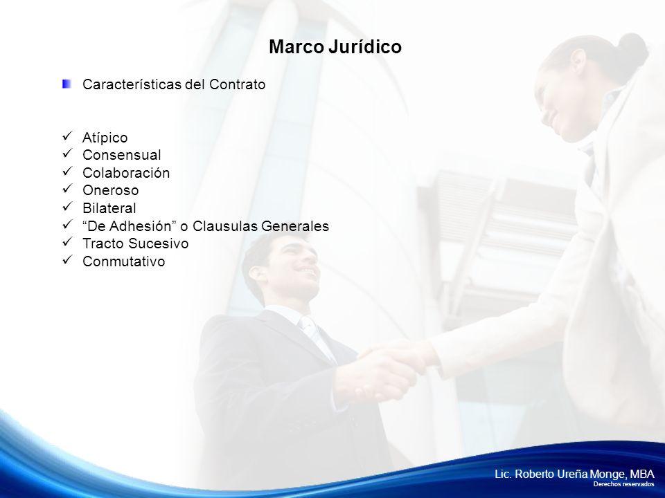 Marco Jurídico Características del Contrato Atípico Consensual