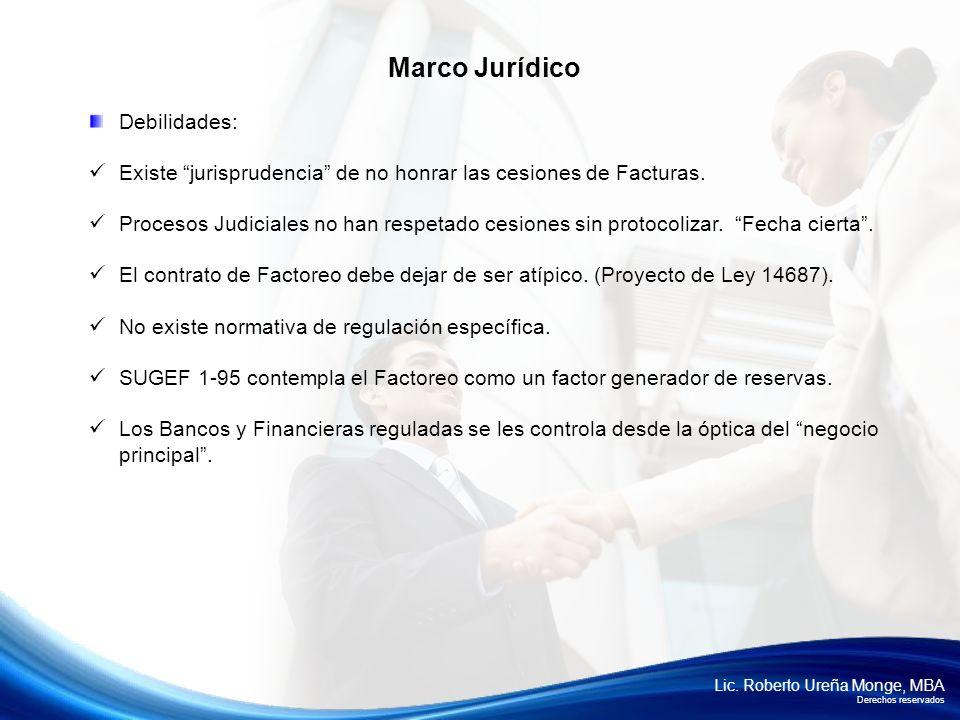 Marco Jurídico Debilidades: