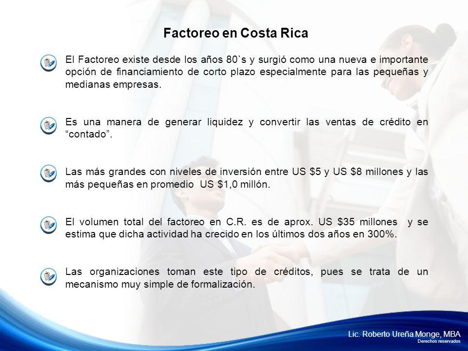 Factoreo en Costa Rica