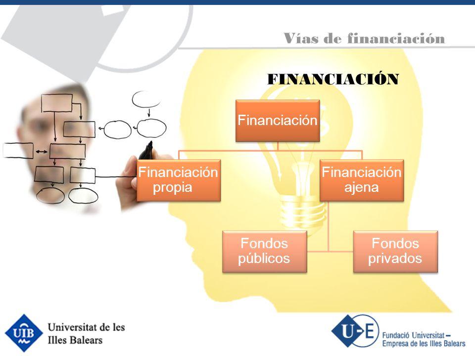 FINANCIACIÓN Vías de financiación Financiación Financiación propia